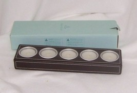 PartyLite Retro Style MultiTealight Holder Leather Holds 5 Tealights P8355 - $5.89