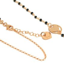Necklace, 90 cm, Silver 925, Alice, Balloons, Hearts, Spinel Black, le Favole image 3