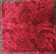 Pottery Barn Natalia Pillow Cover Dark Red Wine  22 sq Silk Jacquard New - $37.62