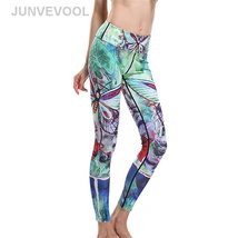 Cute Dragonfly Digital Printing Women Leggings New Arrival Fashion Beaut... - $23.77
