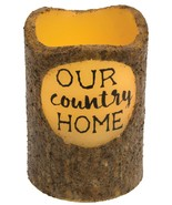 Country Home Battery Operated Timer Pillar Candle Farmhouse Primitive Fl... - $12.61