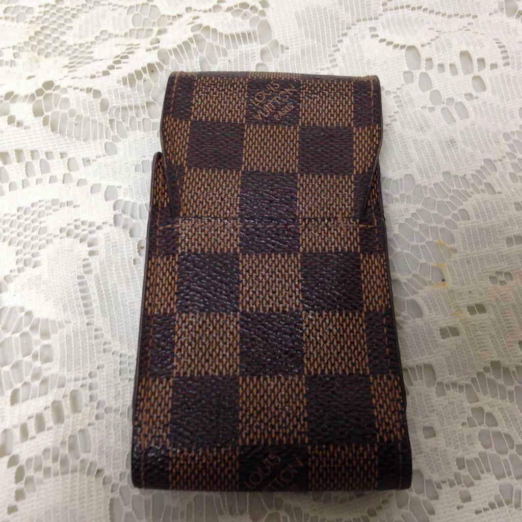 Authentic Louis Vuitton Brown Damier Cigarette-Eye Glass Case 5inx2.5inx1.5in(#4 - $104.45