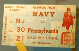 1956 Pennsylvania v Navy College Football Ticket Stub October 27 - $18.81