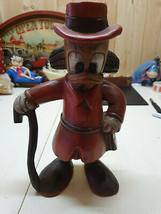 Extremely Rare! Walt Disney Scrooge McDuck Standing with Money Bag Old Statue - $247.50