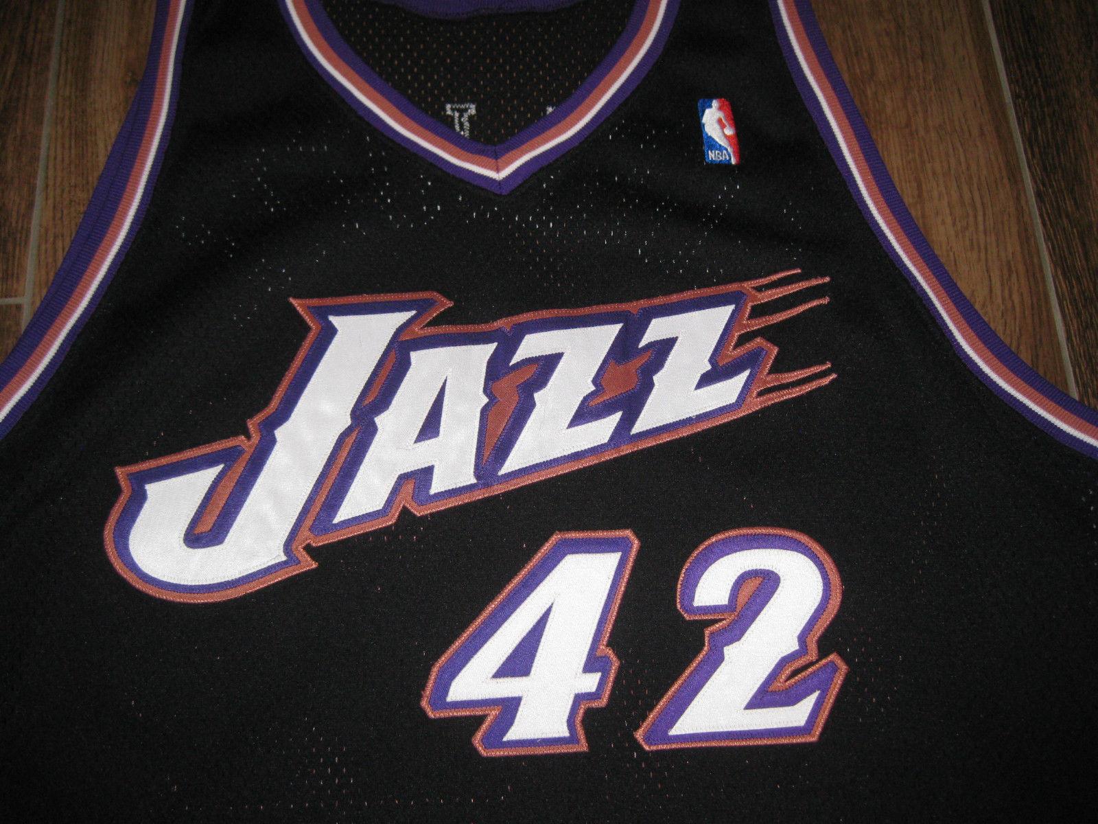 d20f51b7f TOM GUGLIOTTA UTAH JAZZ GAME USED WORN JERSEY REEBOK BLACK 52 +6 LENGTH NC  STATE