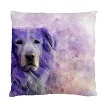 Throw Pillow case, Cushion cover, Dog 140 Golden Retriever Purple by L.Dumas - $21.99