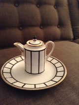Antique Deco German Porcelain Creamer And Plate... - $23.03