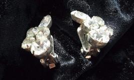 CLIP EARRING has five clear nice size RHINESTONES on each CLIP EARRING - $3.95