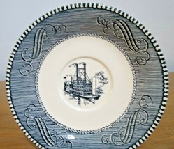 Currier and Ives Saucers Set of 7 by Royal China 6 inches across - $4.21