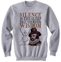 FRANCIS BACON SILENCE - NEW COTTON GREY SWEATSHIRT- ALL SIZES - $31.88