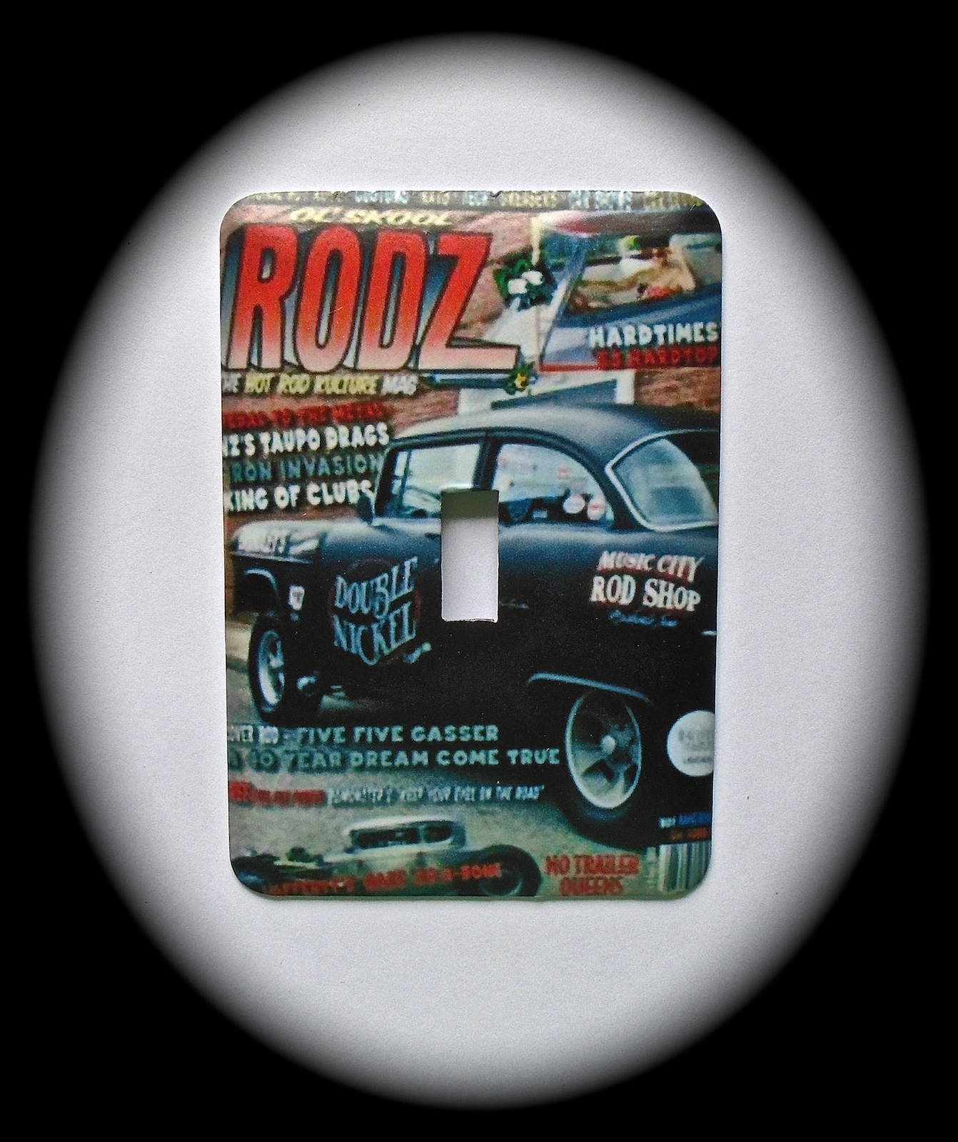 Primary image for RAT ROD Metal Switch Plate  Hot Rods