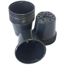 """Set of 100 - 4 inch Round Black Plastic Pots - (4"""" x 3.5"""")  flower pot L... - $14.89 CAD"""