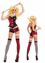 Party King No Good Harlequinn Harley Quinn Batman Womens Halloween Costu... - $80.64