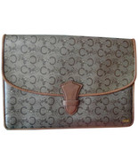 Vintage CELINE brown beige classic C and carriage logo pattern clutch bag. - $103.00