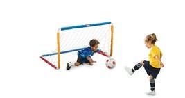 Soccer Goal Post for Kids Toy Soccer Goal Set Portable SoccerNet Kids So... - $48.93