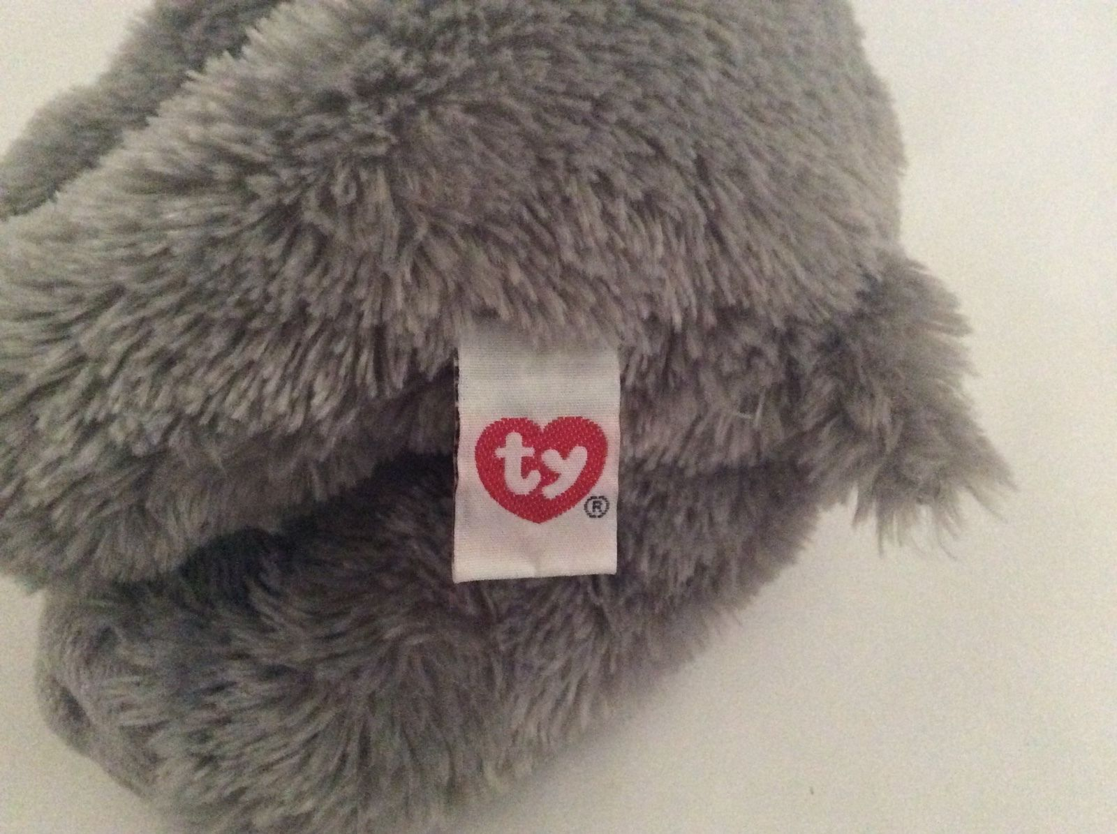 """TY BEANIE BABY Classic gray pink TEENSY THE ELEPHANT 14"""" plush silky toy"""