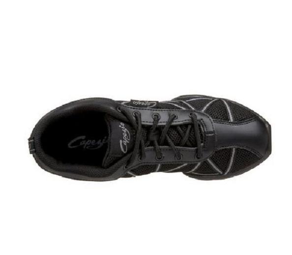 Capezio Womens DS19 Web Dance Shoe Non-Marking Dansneaker Black/Gray 5 M NIB