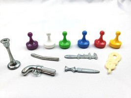 Clue Board Game - Complete Set of 6 Replacement Weapons & Tokens Pieces - $9.89