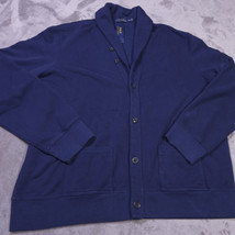 Ralph Lauren Polo Mens Button Up Sweatshirt Jacket Size Xxl Blue Nwt New - $95.34