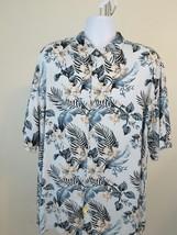 CUBAVERA 2XL Men's Hawaiian Vacation Shirt Floral White/Orange/Blue Qual... - $1,625.00