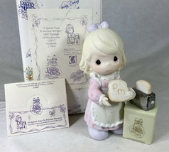 Special Toast to Precious Moments 1997 Girl with Toaster Box Display Tag... - $24.18