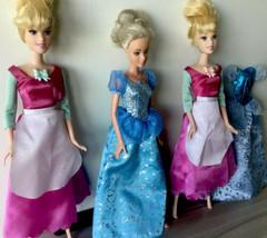 LOT OF 3 Disney Singing Cinderella Dolls Doll S - $23.75