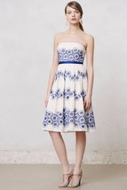 NWT ANTHROPOLOGIE FORGET-ME-NOT DRESS by MOULINETTE SOEURS 4 - $99.74