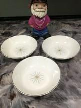 Homer Laughlin Modern Star, Atomic, Set Of 3 SALAD/SOUP Bowls - $9.99