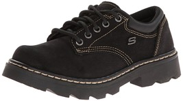 Skechers Parties Mate Womens Casual Oxfords Shoes Black - $76.50