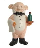 Danbury Mint Piggies Swine Waiter Pig Ornament Wine Lovers 9.5 cms - $31.46