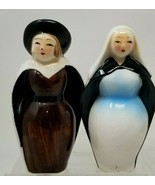 Vintage Japanese Nun Salt and Pepper Shakers Religious - $19.79