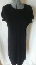 Liz Lange Maternity black dress knee length Large L Short Sleeves Career - $13.54