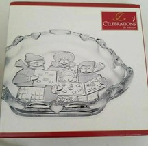 Celebrations by MIKASA Frosted Snack Dish Christmas Carolers NEW - $7.91