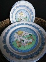 Vintage Make a Joyful Noise Precious Moments Dinner/Salad Plates Set - $44.95