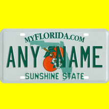 1/43-1/5 scale custom license plates any brand RC/model car - Florida tag - $11.00