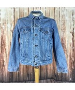 Levi Strauss Vintage Mens Jacket Size 42 Blue Jean Denim Standard Trucker - $59.39