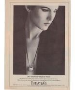 1983 Tiffany & Co Tiffany's Elsa Peretti Jewelry Pendant Vintage Print A... - $16.62