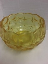 Vintage Vaseline Yellow  Glass Candy Dish 4 inch tall 70's? - $8.15