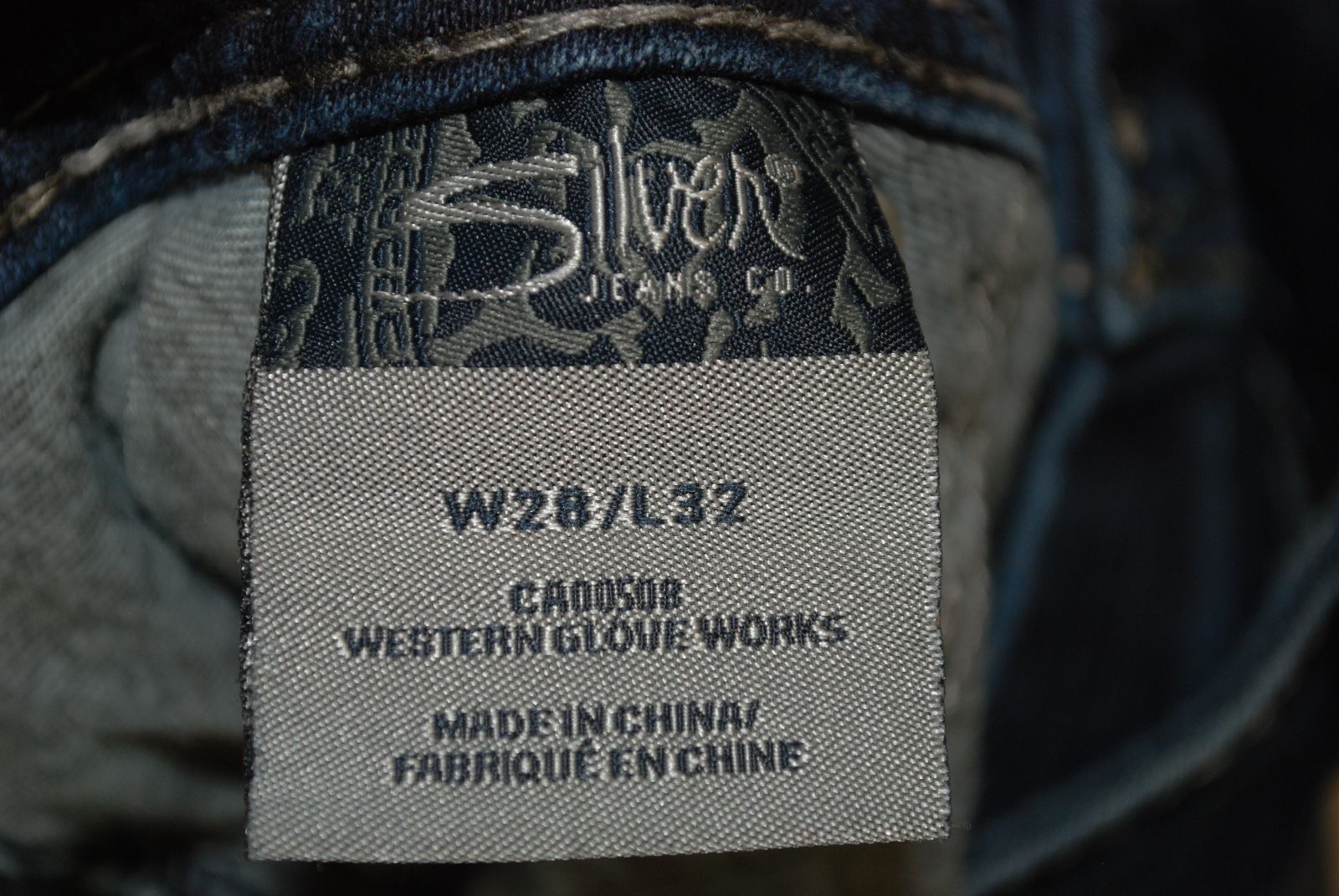 SILVER JEANS - Suki Surplus - Dark Wash Bootcut Flap Pocket Women's 28W x 32L
