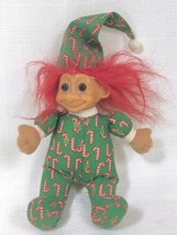 """Vintage RUSS BERRIE & Co """"Candy Cane Christmas Troll,"""" 8 in. No. 2385 Red Hair - $7.34"""