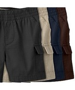Toddler Jumping Beans Boys ONE Brown Cargo Pull-On Shorts Elastic Waist ... - $4.99