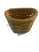 "Longaberger 5"" Wall Basket 1998 Handwoven dated - $15.83"