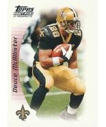 2005 Topps Draft Picks and Prospects #16 Deuce McAllister  - $0.50