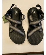 OZARK TRAIL Black/Gray Adjustable Ankle Strap Sandal Shoe Men 9  - $24.99