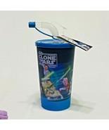 Star the Clone Wars Sipper Glass Water Bottle w Flip Straw & cap - $9.90