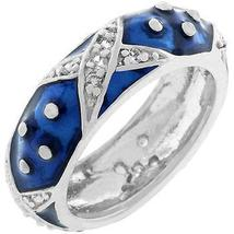 Marbled Navy Blue Enamel Ring - $28.00