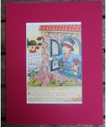 """Mary Engelbreit Print Matted 8 x 10"""" """"For Every Man"""" Boy - $16.40"""