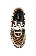 Michael Kors Women's Olympia Trainer Printed Hair Calf Dad Sneaker Shoes Suntan image 4