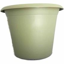 "12"" OLIVE GREEN SERENE ROUND PLASTIC PLANTERS - Set of 5 - pots flower p... - $14.85"