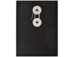 Recollection- Black- String Tie Envelopes-12 Pcs
